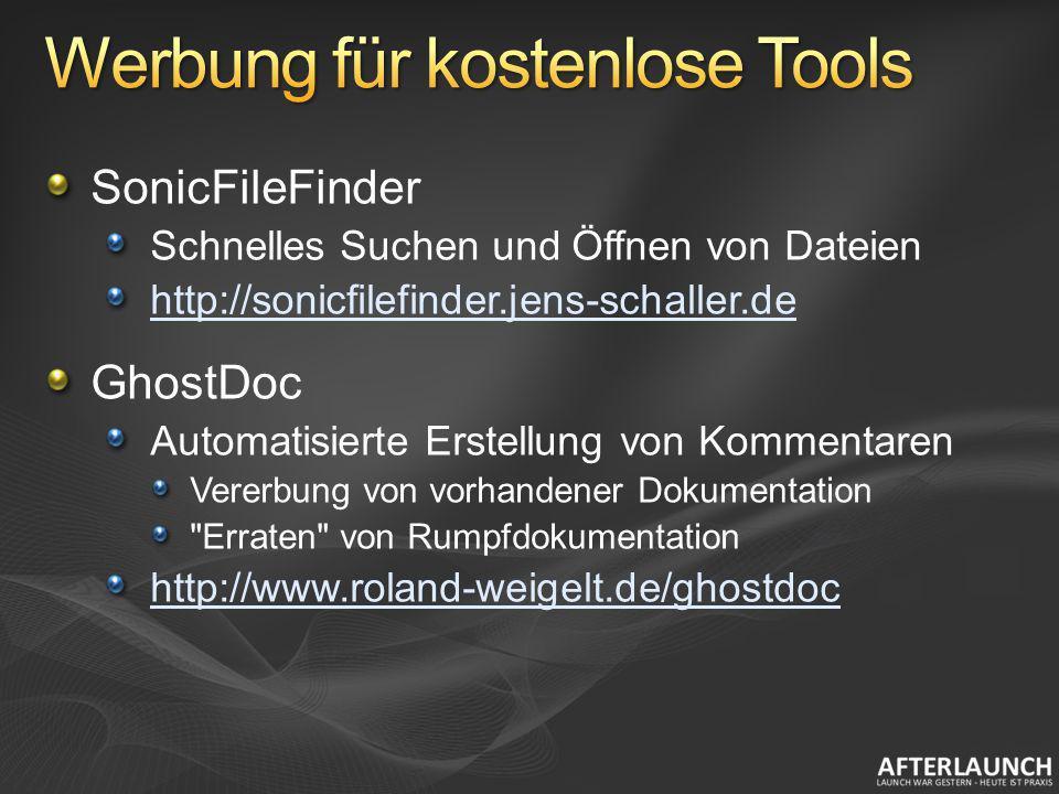 Werbung für kostenlose Tools