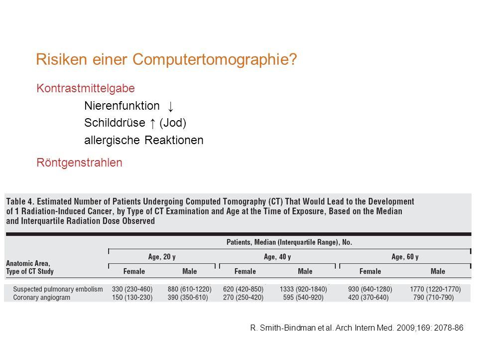 Risiken einer Computertomographie