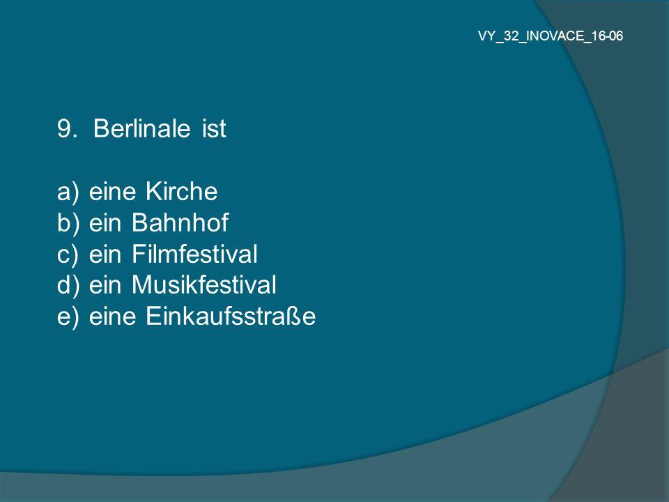 9. Berlinale ist eine Kirche ein Bahnhof ein Filmfestival