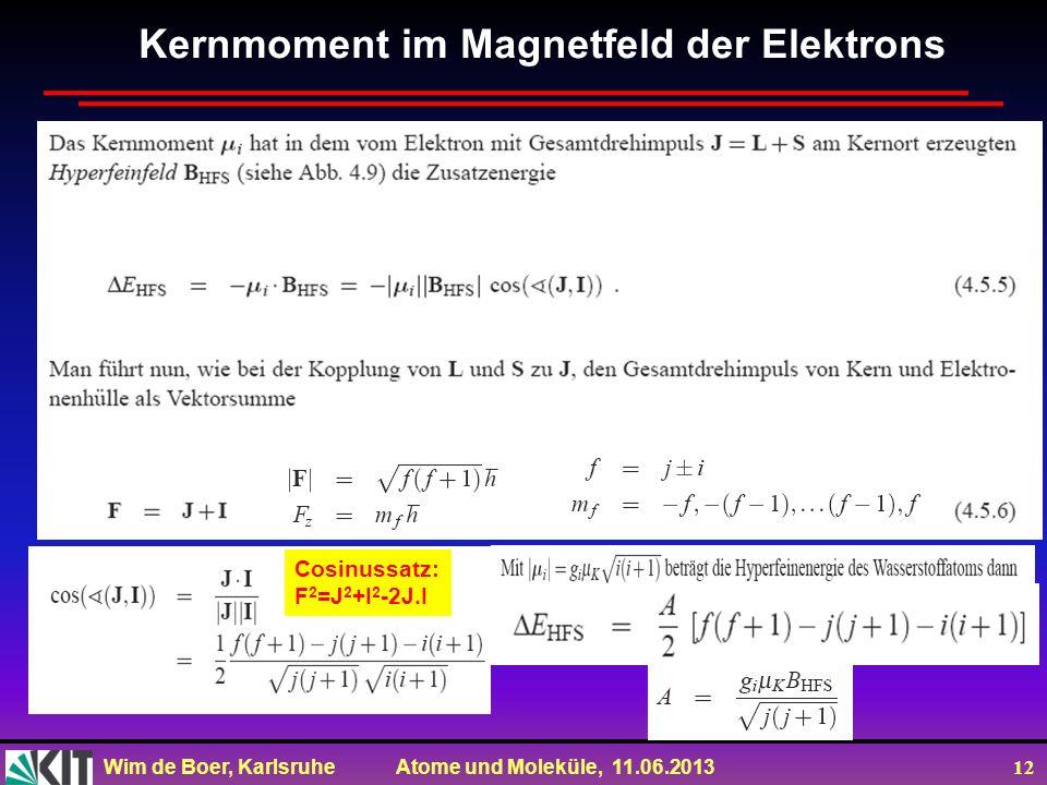 Kernmoment im Magnetfeld der Elektrons