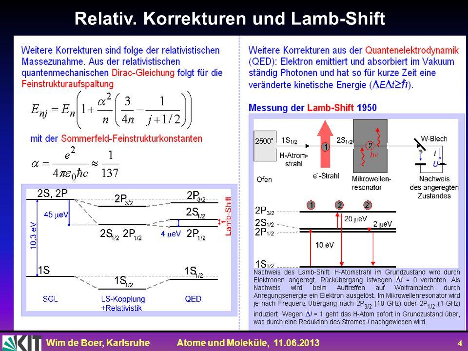 Relativ. Korrekturen und Lamb-Shift