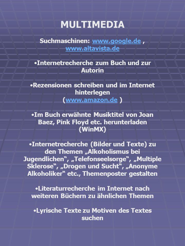 MULTIMEDIA Suchmaschinen: www.google.de , www.altavista.de