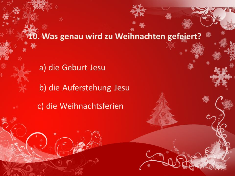 weihnachtsquiz ppt video online herunterladen. Black Bedroom Furniture Sets. Home Design Ideas