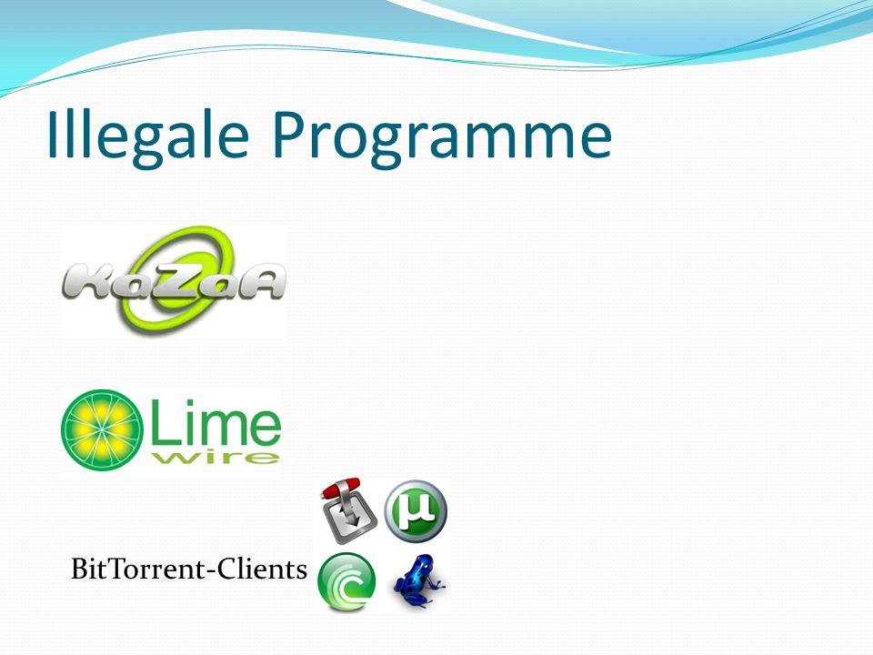 Illegale Programme BitTorrent-Clients