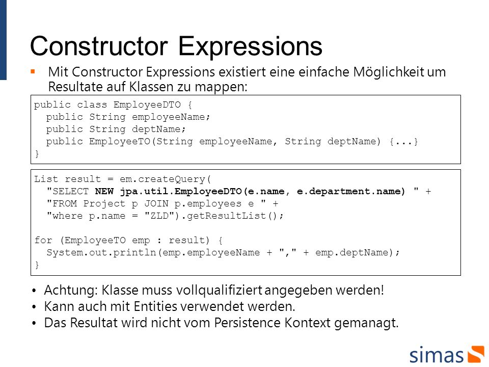 Constructor Expressions