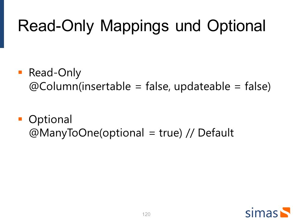 Read-Only Mappings und Optional
