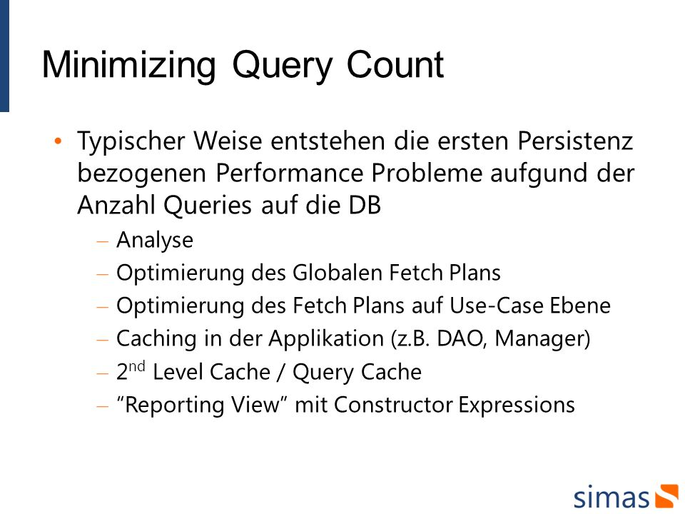Minimizing Query Count