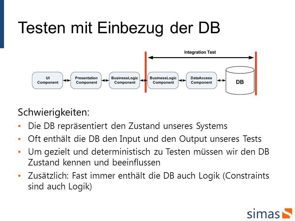 Testen mit Einbezug der DB
