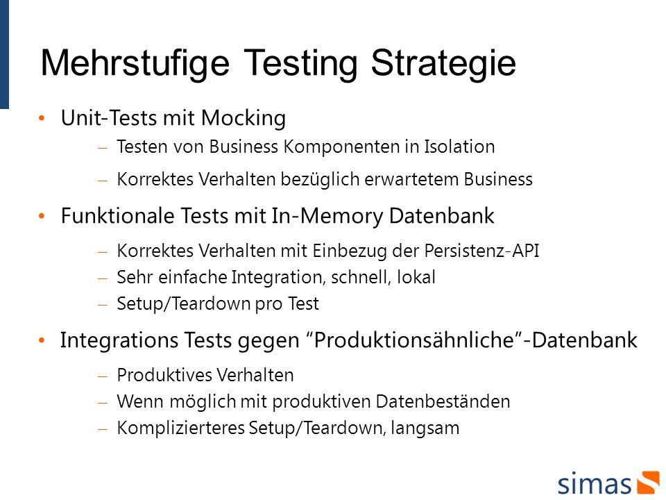 Mehrstufige Testing Strategie