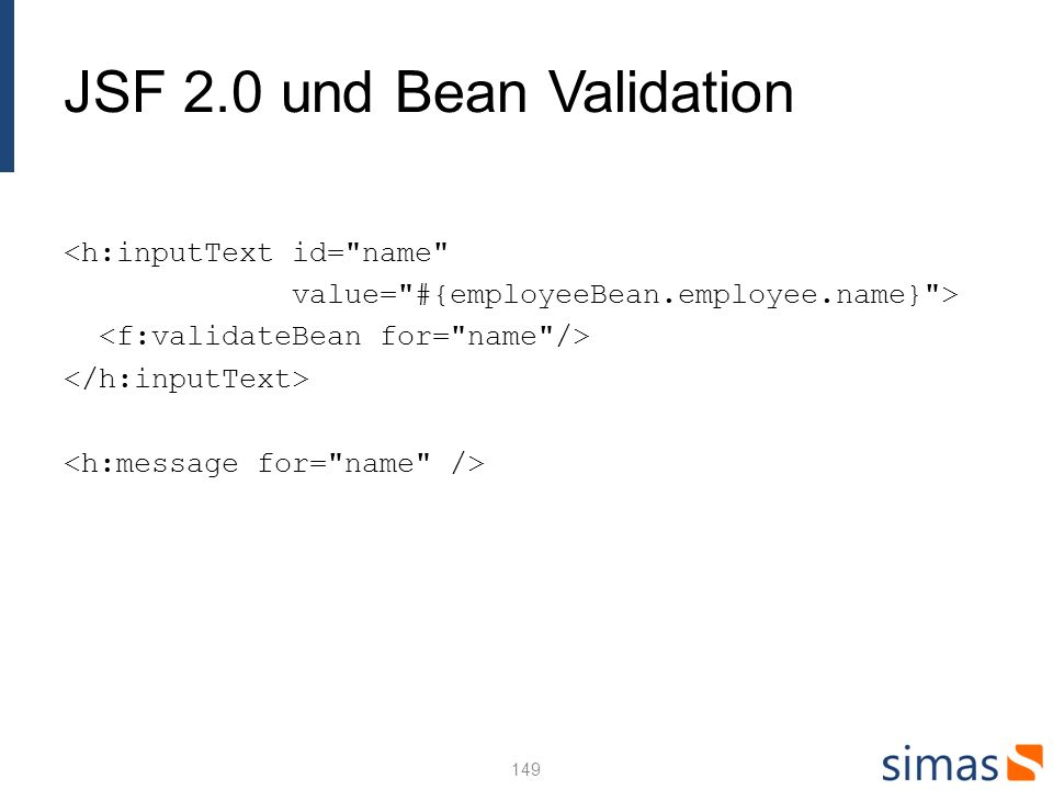 JSF 2.0 und Bean Validation