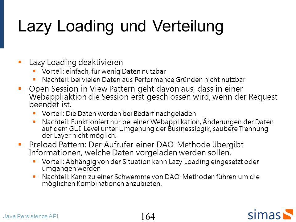 Lazy Loading und Verteilung