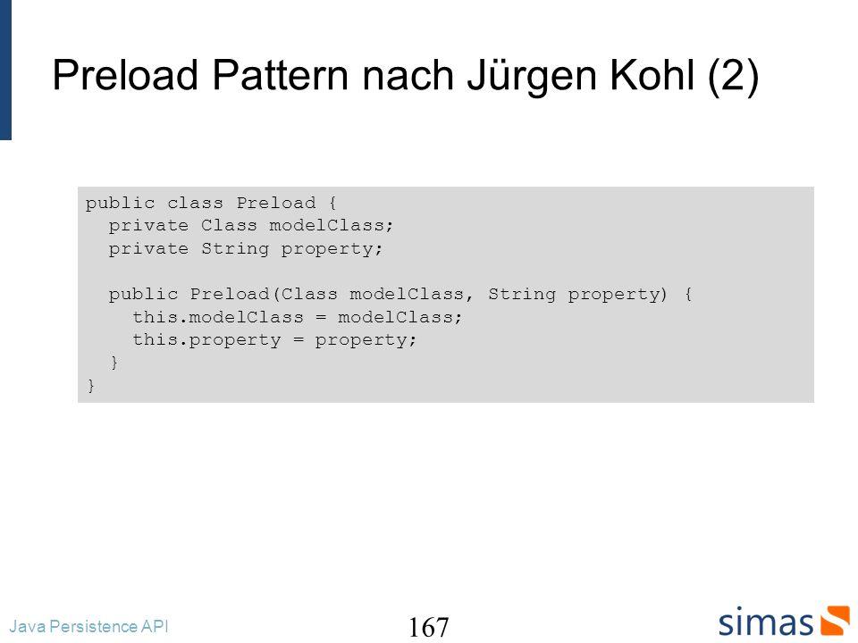 Preload Pattern nach Jürgen Kohl (2)