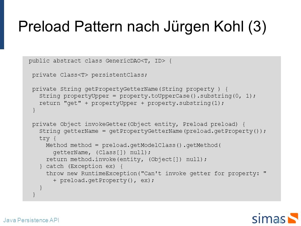 Preload Pattern nach Jürgen Kohl (3)