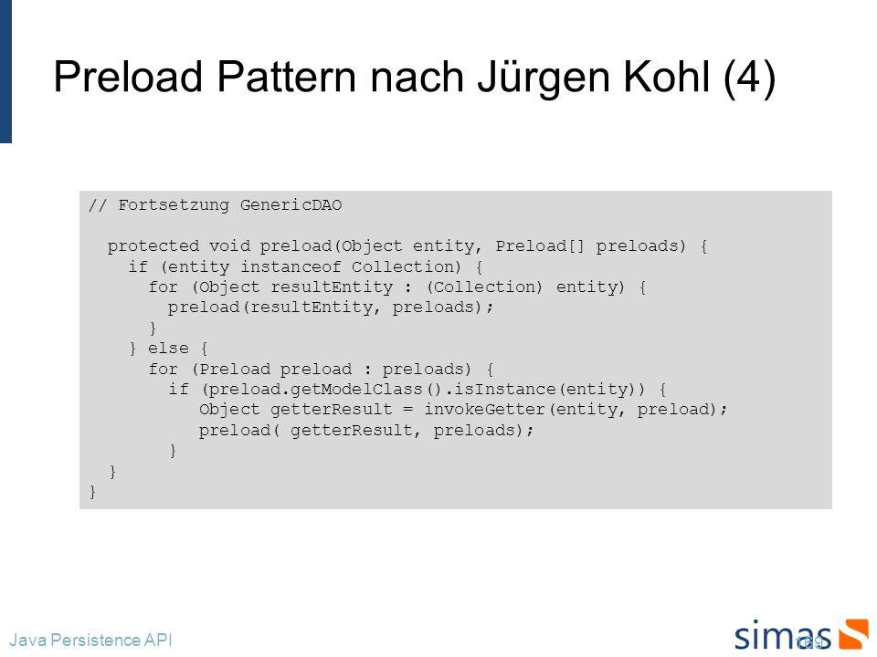 Preload Pattern nach Jürgen Kohl (4)