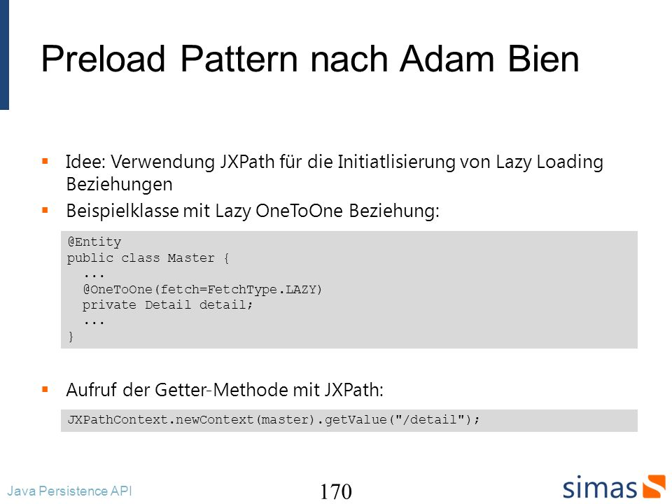 Preload Pattern nach Adam Bien