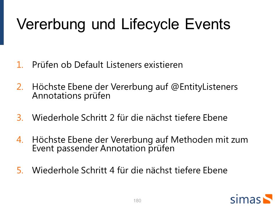 Vererbung und Lifecycle Events