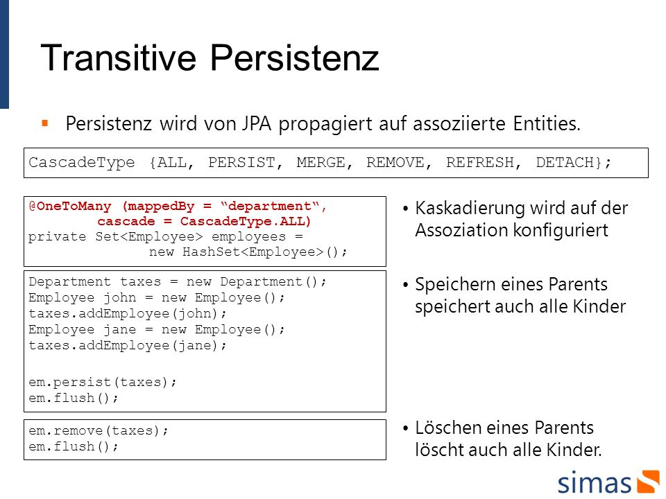 Transitive Persistenz