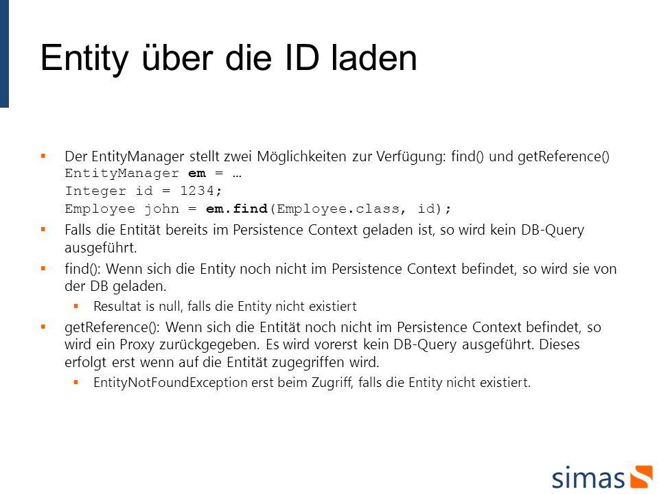 Entity über die ID laden