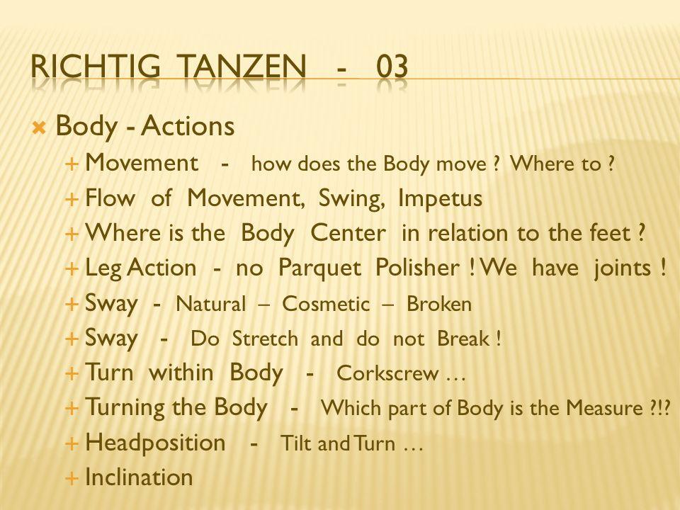 Richtig Tanzen - 03 Body - Actions