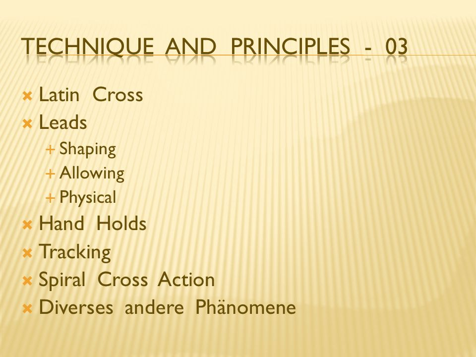 Technique And Principles - 03