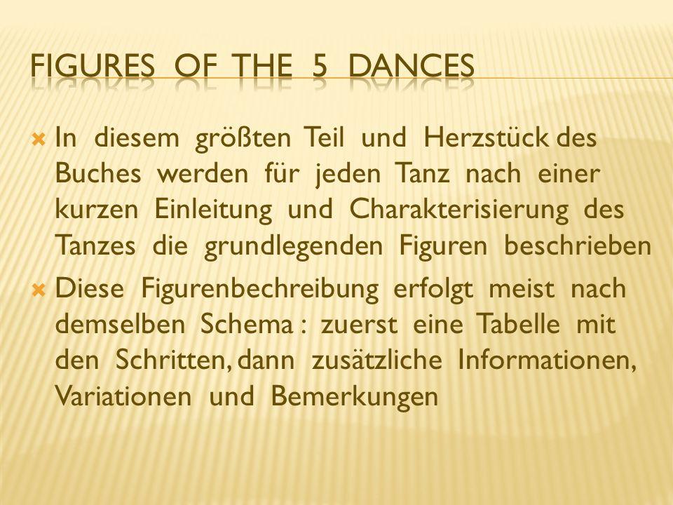 Figures of the 5 Dances