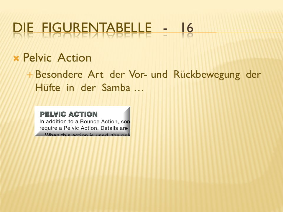 Die Figurentabelle - 16 Pelvic Action