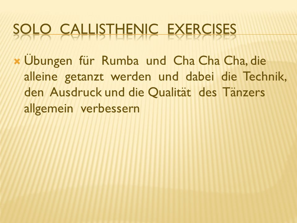 Solo Callisthenic Exercises