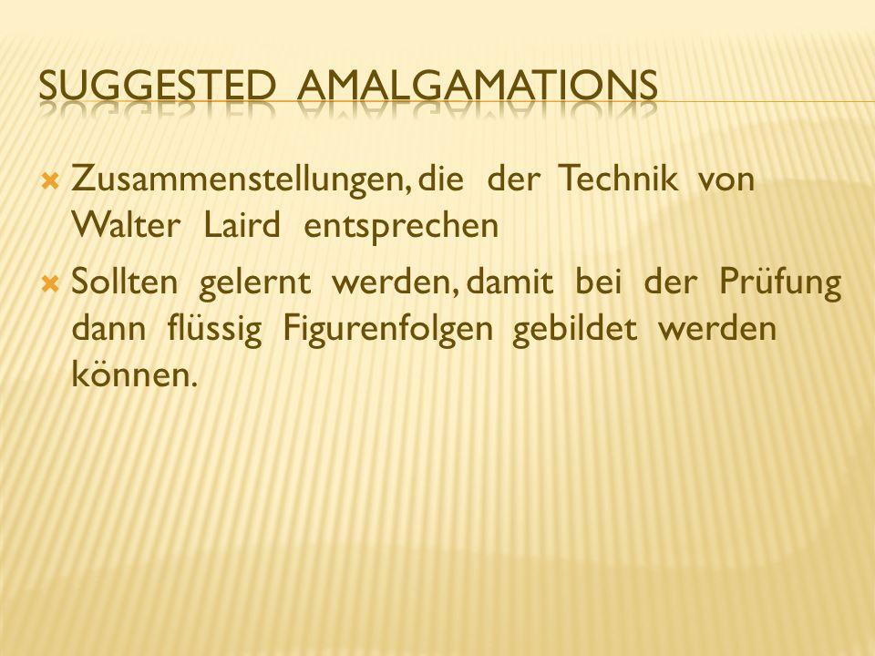 Suggested Amalgamations