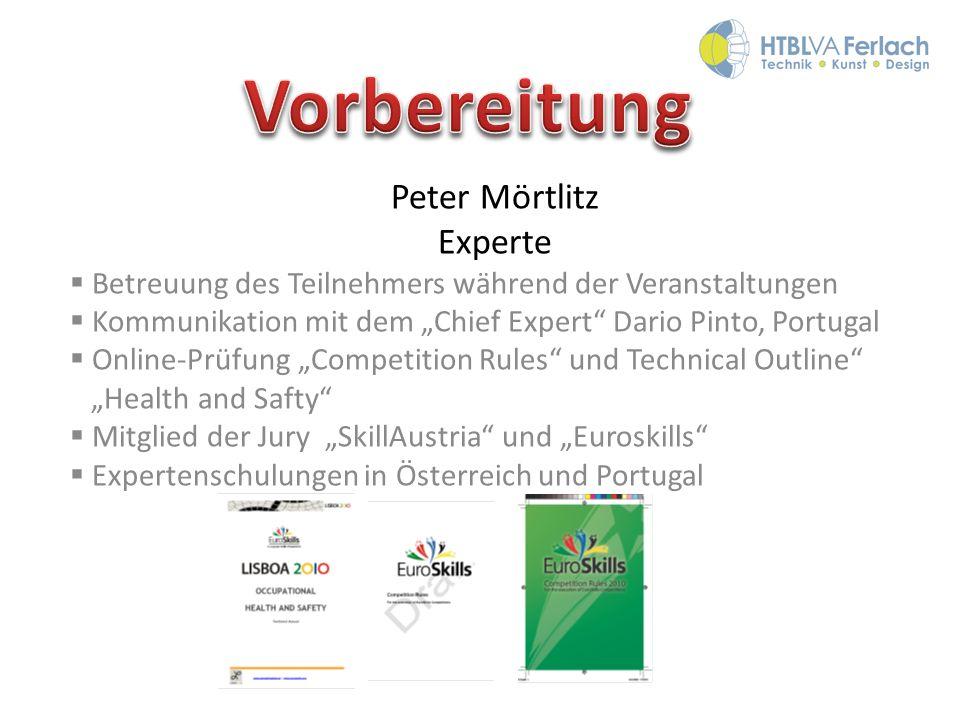 Vorbereitung Peter Mörtlitz Experte