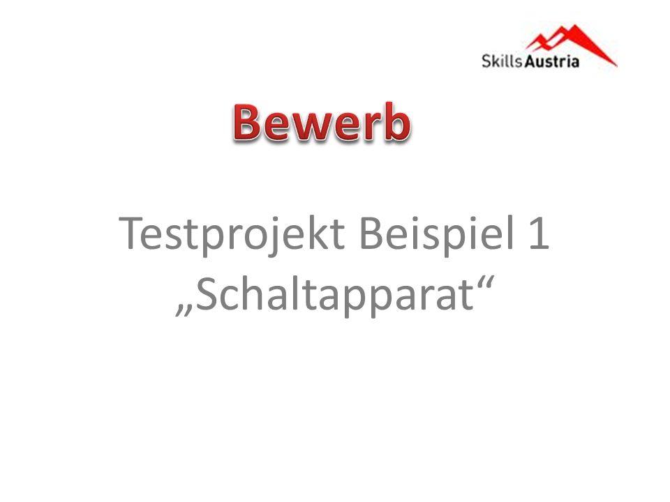 """Bewerb Testprojekt Beispiel 1 """"Schaltapparat"""