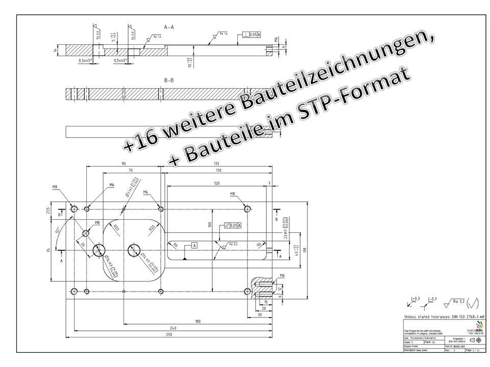+16 weitere Bauteilzeichnungen, + Bauteile im STP-Format