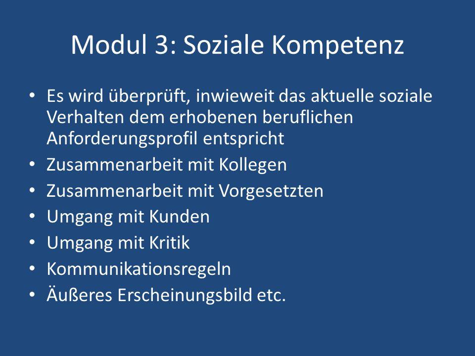 Modul 3: Soziale Kompetenz