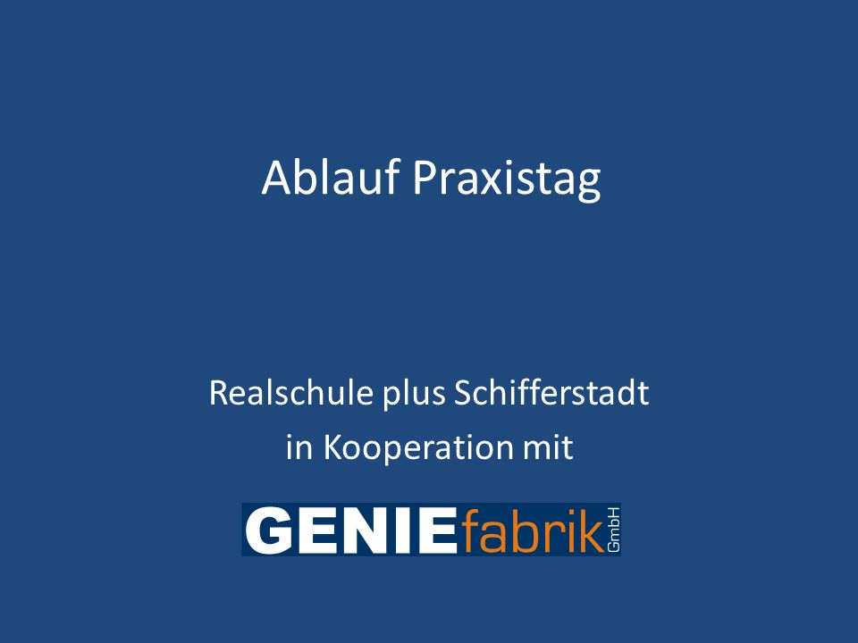Realschule plus Schifferstadt in Kooperation mit