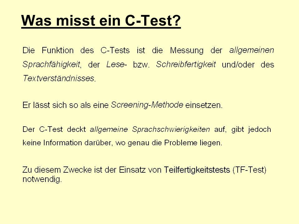 Was misst ein C-Test