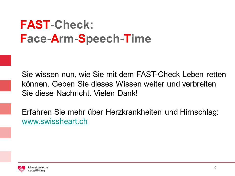 FAST-Check: Face-Arm-Speech-Time
