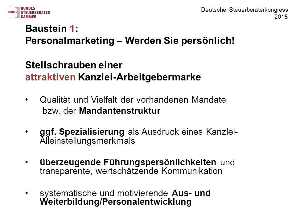 Baustein 1: Personalmarketing – Werden Sie persönlich!