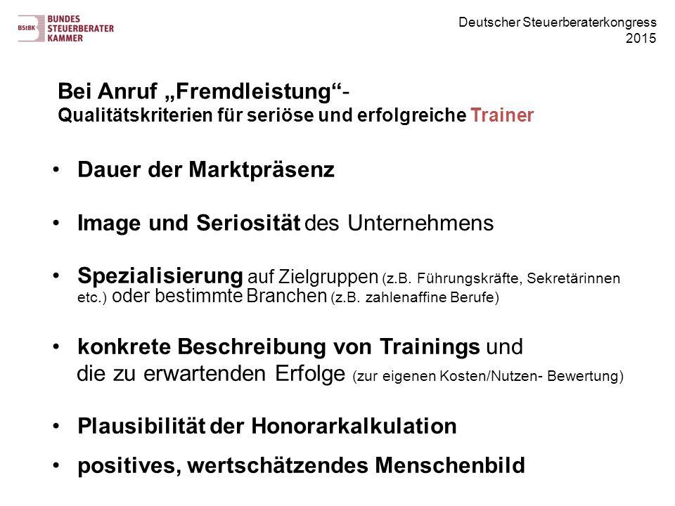 """Bei Anruf """"Fremdleistung - Qualitätskriterien für seriöse und erfolgreiche Trainer"""