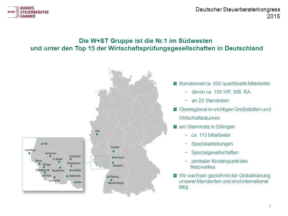 Unsere Standorte Die W+ST, Fokus, Ansatz, Aufbau