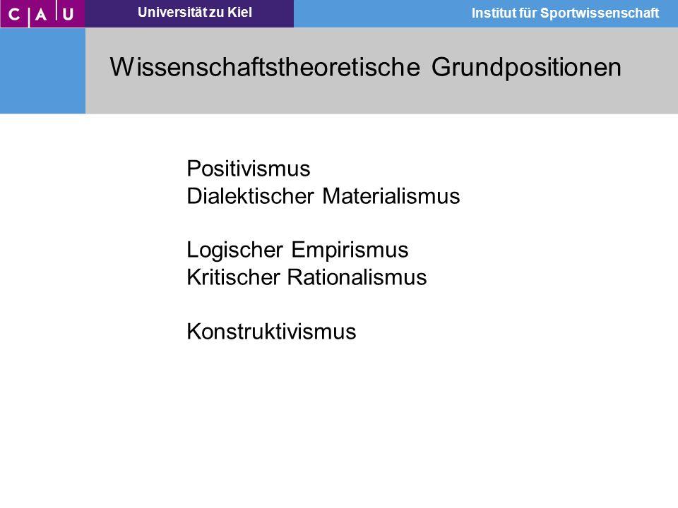 Wissenschaftstheoretische Grundpositionen