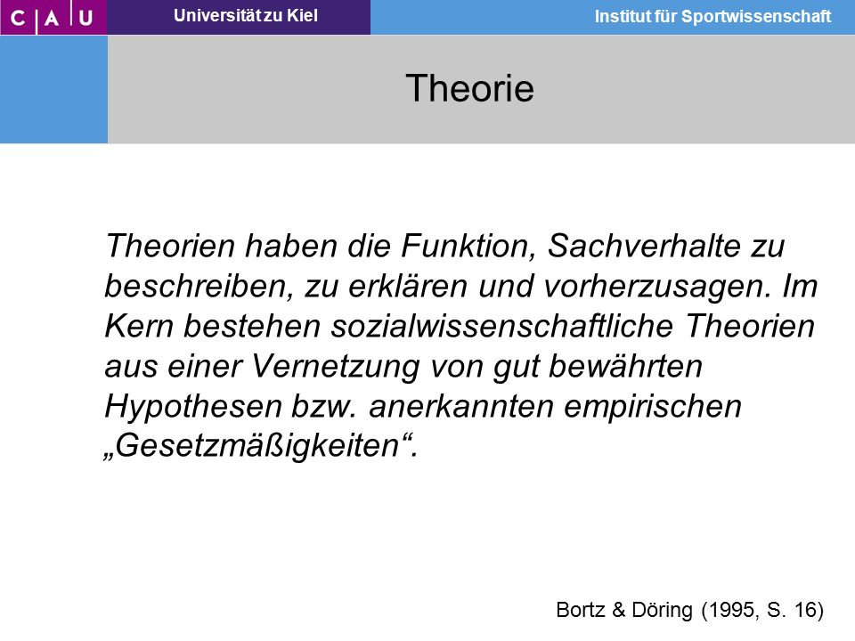 Theorie