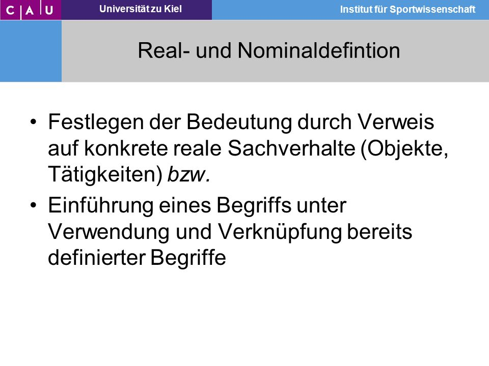 Real- und Nominaldefintion