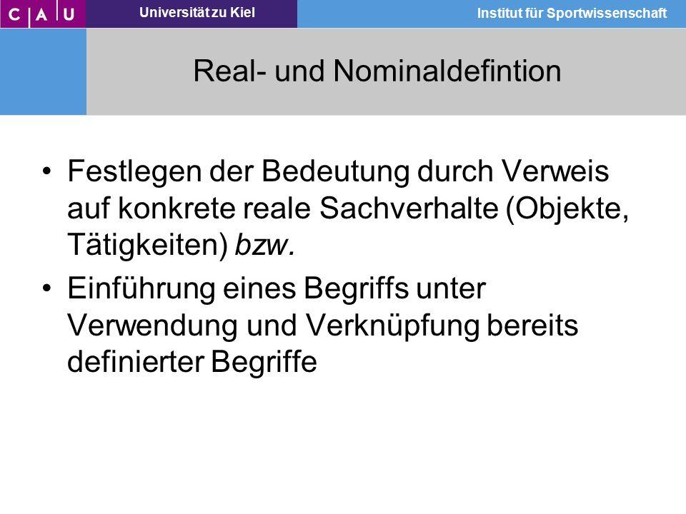 Real- und Nominaldefintion