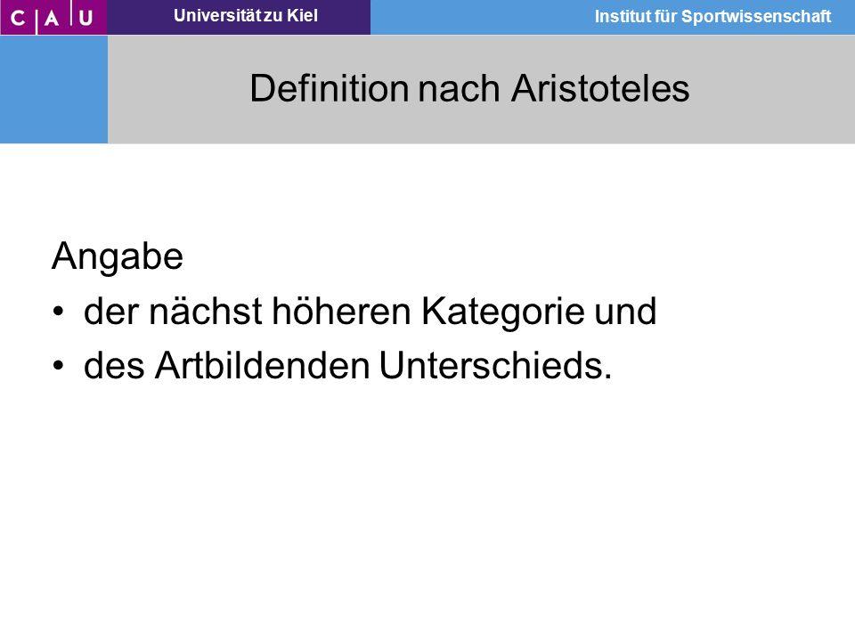 Definition nach Aristoteles