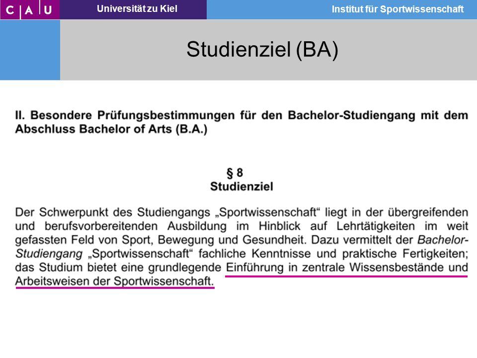 Studienziel (BA)