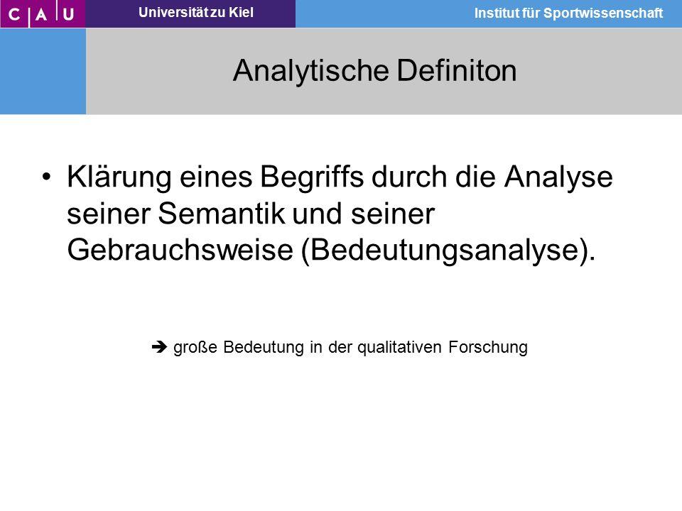 Analytische Definiton