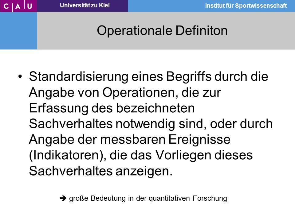 Operationale Definiton