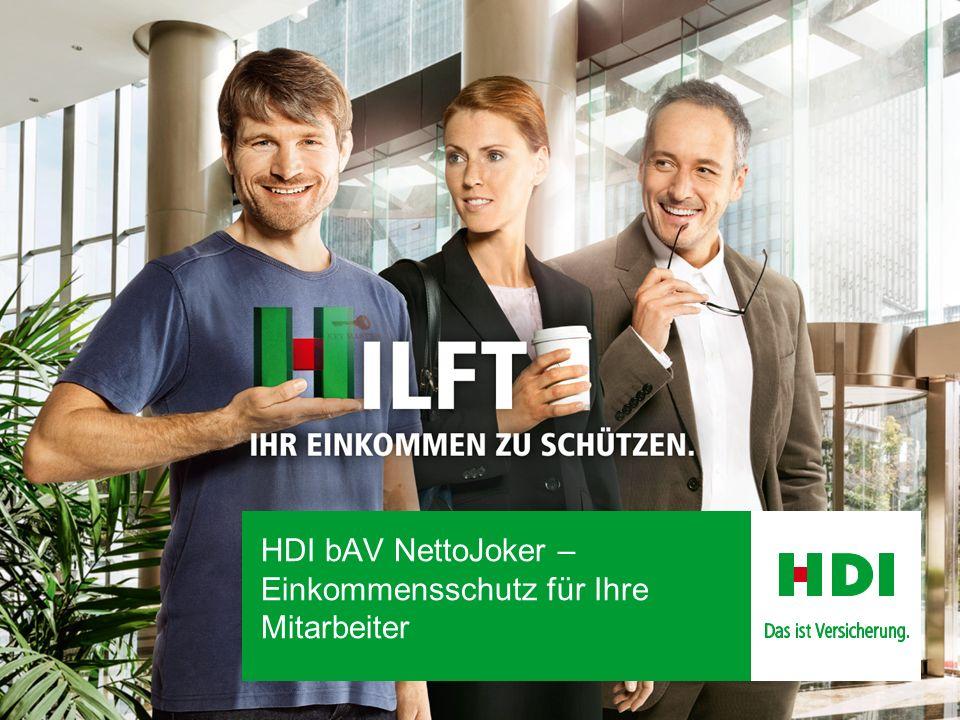 HDI bAV NettoJoker – Einkommensschutz für Ihre Mitarbeiter