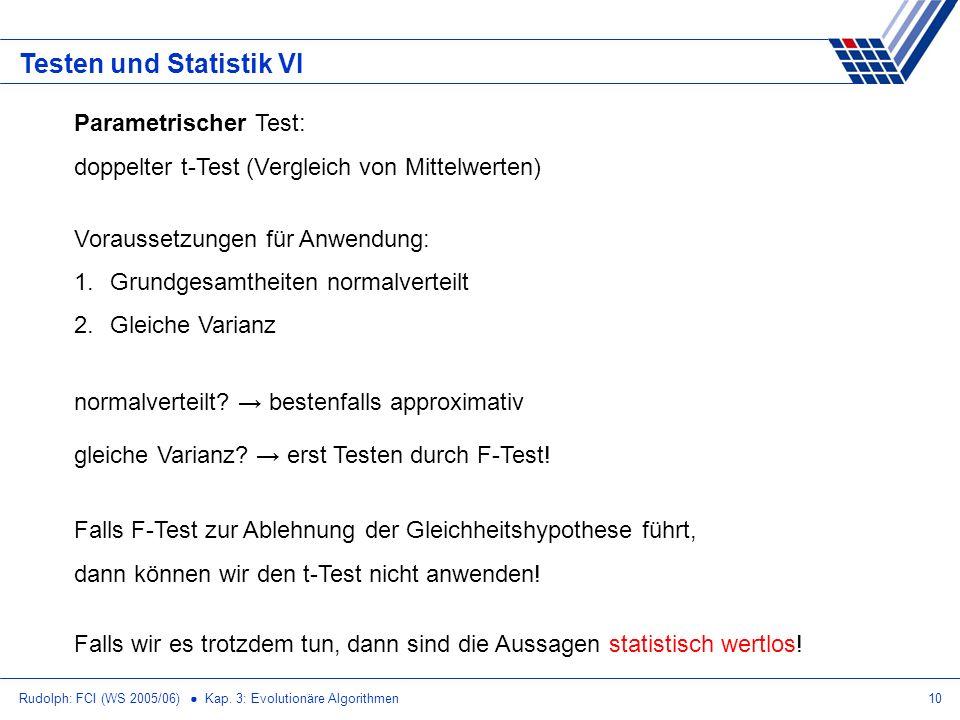 Testen und Statistik VI