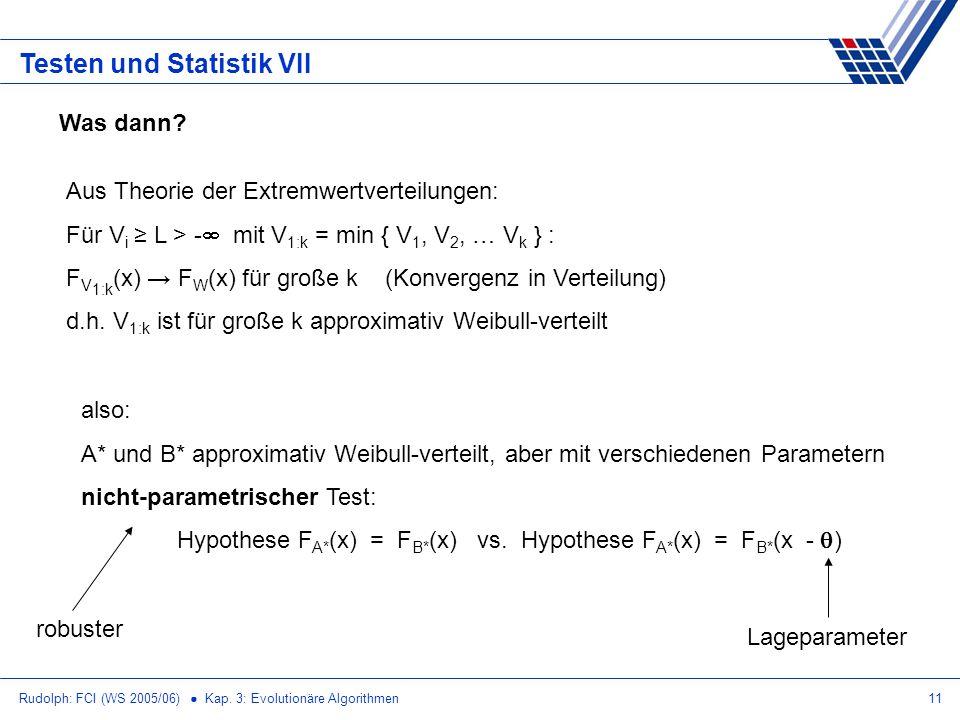 Testen und Statistik VII