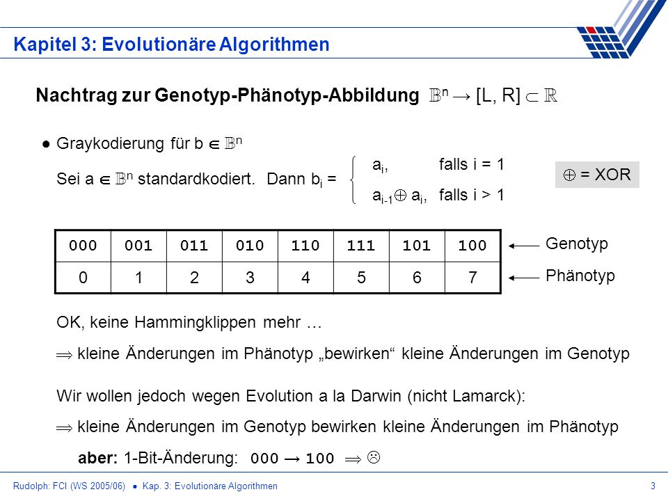 Kapitel 3: Evolutionäre Algorithmen